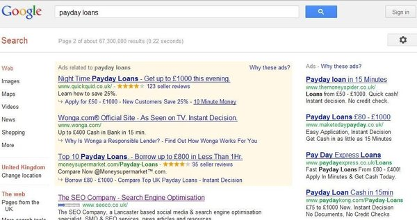 payday loans screenshot