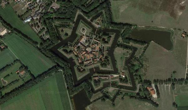 Bourtange, Netherlands on Google Maps