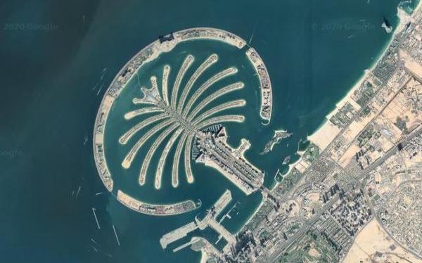 Palm Islands, Dubai on Google Maps