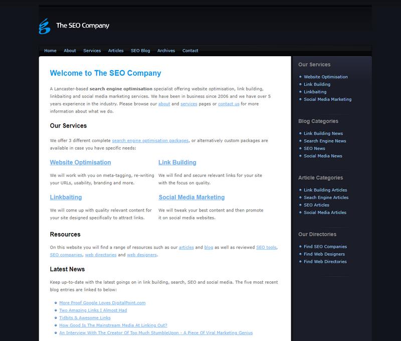 Seoco web design 2008 - 2013