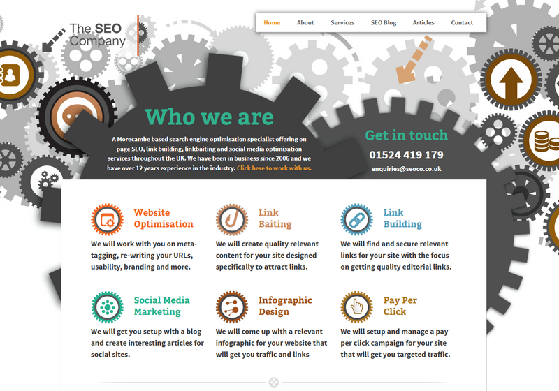 Seoco web design 2013 - 2020